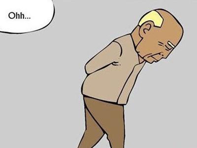 老年人由于骨质脆弱