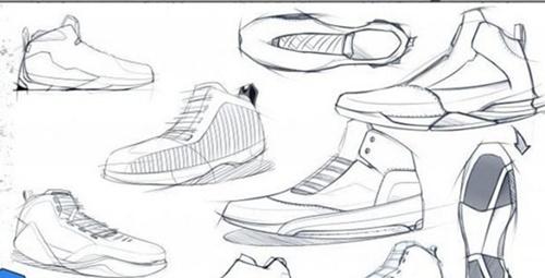 足球运动鞋简笔画