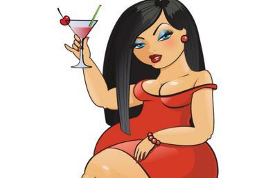 卡通胖女孩减肥图片