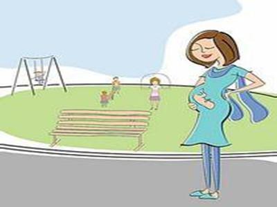 孕妇做运动卡通图片
