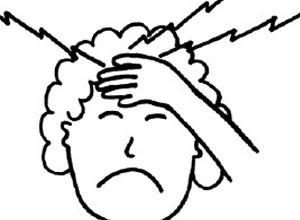 頭痛 頭 頂部