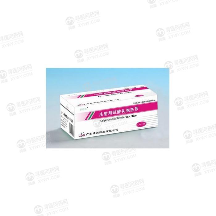 广东博洲药业 注射用硫酸头孢匹罗