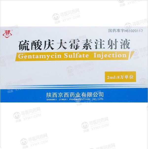 陕西京西 硫酸庆大霉素注射液