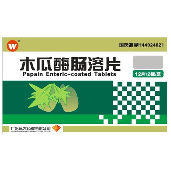 广东雷允上 木瓜酶肠溶片