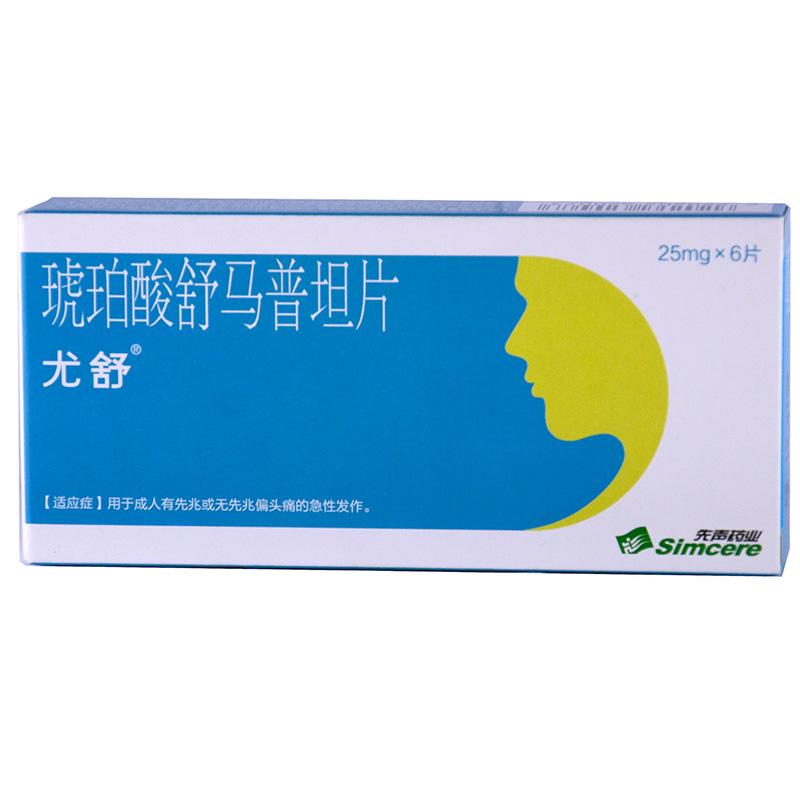 先声药业 琥珀酸舒马普坦片