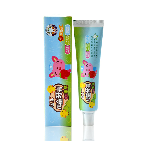 医真儿童缤纷果萃牙膏1-6岁防蛀抗菌草莓味可吞咽牙膏50g