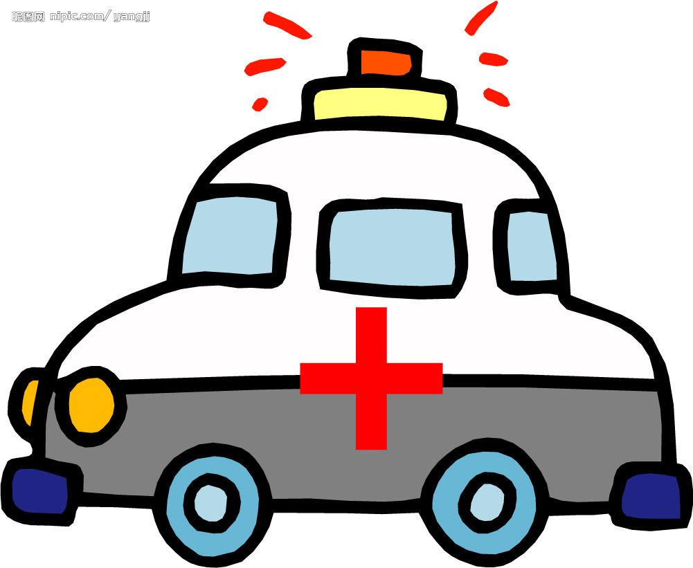 救护车图片卡通_120救护车简笔画