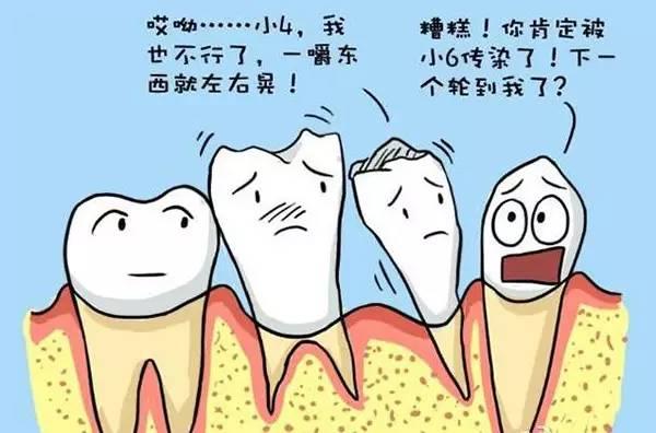 有些口腔疾病或者全身性疾病也会引起牙齿松动的出现,比如急性